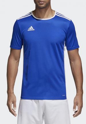 Футболка спортивная adidas ENTRADA 18 JSY. Цвет: синий