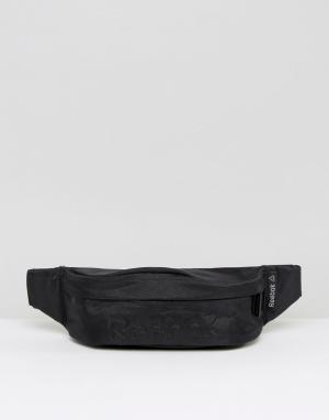 Черная сумка-кошелек на пояс AJ5938 Reebok. Цвет: черный