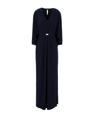Длинное платье LAUREN RALPH. Цвет: темно-синий
