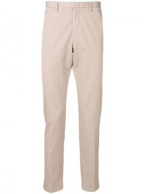 Классические брюки чинос Boss Hugo. Цвет: бежевый