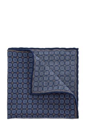 Платок-паше из шерстяной фланели CANALI. Цвет: синий