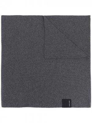 Трикотажный шарф Canada Goose. Цвет: серый