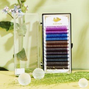 1 коробка Многоцветные накладные ресницы на хэллоуин SHEIN. Цвет: многоцветный
