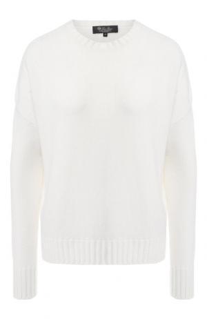 Кашемировый пуловер Loro Piana. Цвет: белый