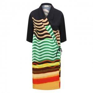 Платье из вискозы Dries Van Noten. Цвет: разноцветный