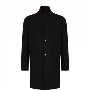Шерстяное пальто на меховой подкладке 10sei0otto. Цвет: чёрный