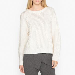 Пуловер с круглым вырезом из оригинального трикотажа GEOFREY HARRIS WILSON. Цвет: экрю