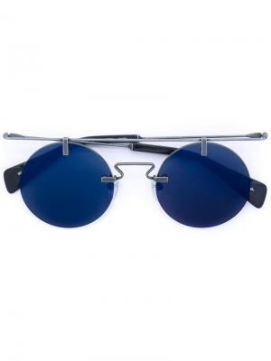 Солнцезащитные очки в круглой оправе Yohji Yamamoto