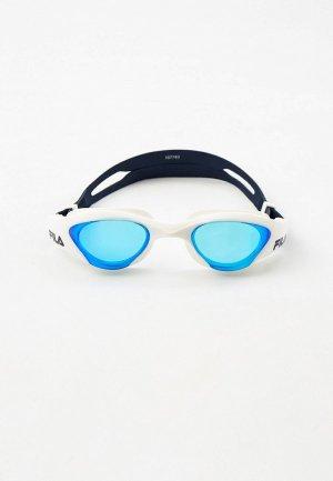 Очки для плавания Fila. Цвет: белый
