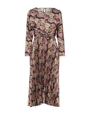 Платье длиной 3/4 DIXIE. Цвет: черный