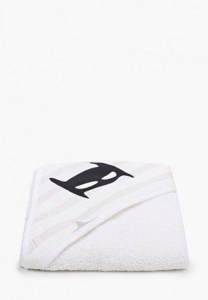 Полотенце Заяц на подушке с капюшоном, Малыш Супергерой, 75х75 см. Цвет: белый
