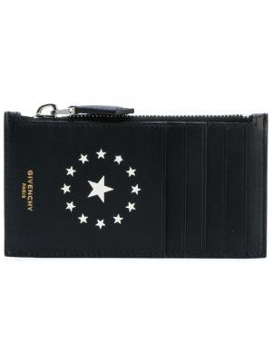 Визитница на молнии Givenchy. Цвет: чёрный