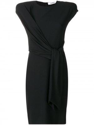 Платье до колена с завязками на талии Chalayan. Цвет: черный
