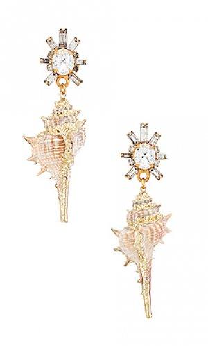 Подвесные серьги holland Elizabeth Cole. Цвет: металлический золотой