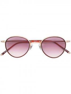 Солнцезащитные очки в круглой оправе Matsuda. Цвет: красный