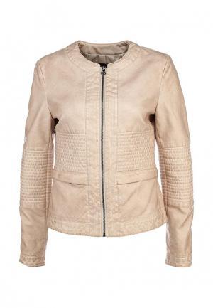 Куртка кожаная Baon. Цвет: бежевый