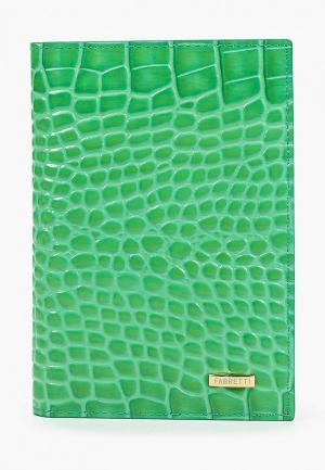 Обложка для документов Fabretti. Цвет: зеленый