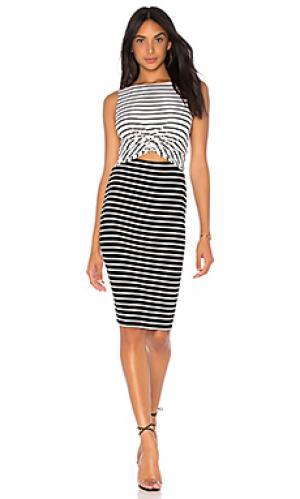 Платье rabbit hole Bailey 44. Цвет: black & white