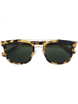 Солнцезащитные очки с квадратной оправой Dolce & Gabbana Eyewear. Цвет: металлик