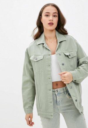 Куртка джинсовая Mossmore. Цвет: зеленый