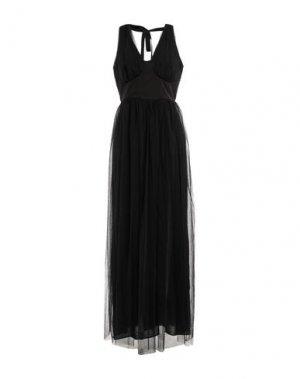 Длинное платье KI6? WHO ARE YOU?. Цвет: черный