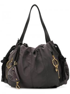 Большая сумка на плечо See By Chloé. Цвет: серый