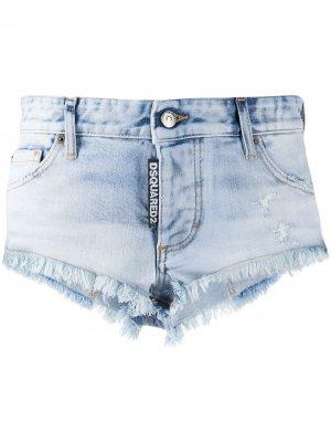 Джинсовые шорты с логотипом Dsquared2. Цвет: синий