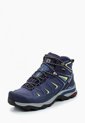 Ботинки трекинговые Salomon X ULTRA MID 3 GTX® W. Цвет: синий