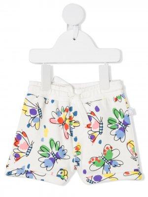 Спортивные шорты с принтом Stella McCartney Kids. Цвет: белый