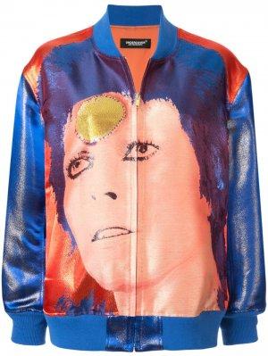 Куртка-бомбер Bowie UNDERCOVER. Цвет: синий
