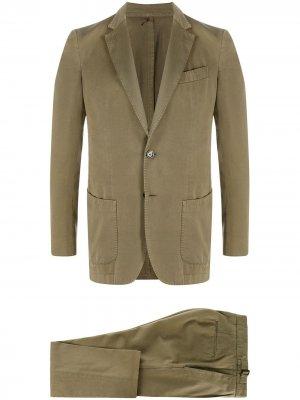 Delloglio костюм-двойка узкого кроя Dell'oglio. Цвет: зеленый