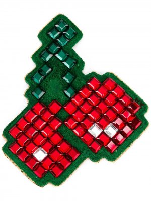 Стикер в форме вишни Anya Hindmarch. Цвет: зеленый