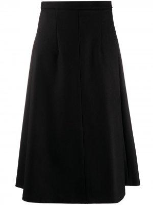Расклешенная юбка с завышенной талией Rochas. Цвет: черный