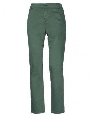 Повседневные брюки AND. Цвет: зеленый
