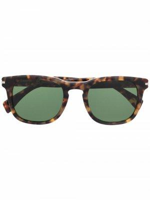 Солнцезащитные очки в квадратной оправе LANVIN. Цвет: коричневый