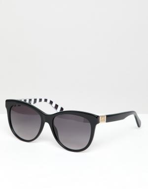 Черные круглые солнцезащитные очки LOVE Moschino-Черный Moschino