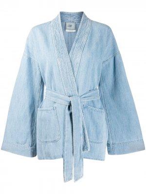 Джинсовая куртка Forte. Цвет: синий