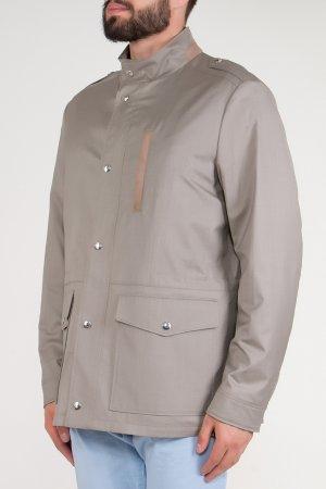 Серая куртка с накладными карманами BILANCIONI. Цвет: серый
