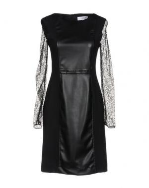 Короткое платье ANNA RACHELE. Цвет: черный