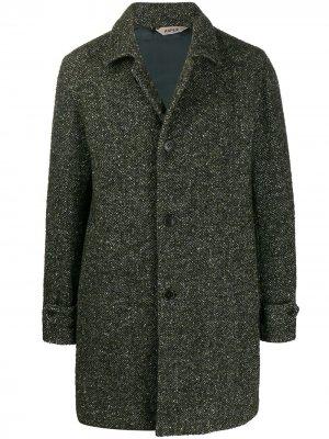 Однобортное пальто узкого кроя Aspesi