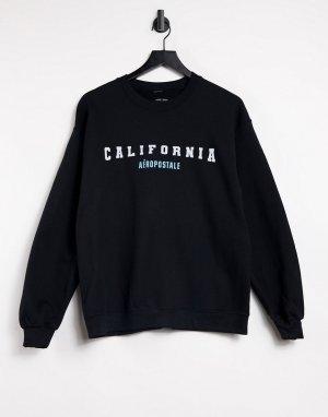 Черный свитшот с логотипом California-Черный цвет Aeropostale