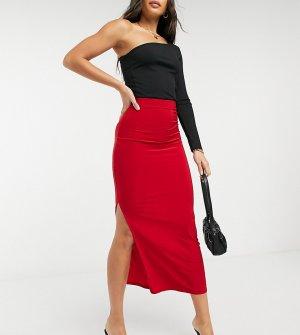 Красная юбка макси -Красный Club L London Tall
