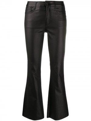 Укороченные расклешенные брюки с завышенной талией Federica Tosi. Цвет: черный