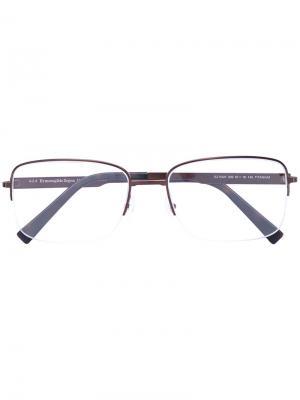Очки для зрения в полуоправе Ermenegildo Zegna. Цвет: коричневый