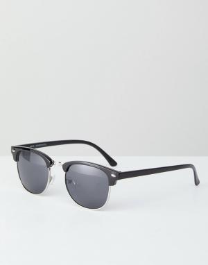 Солнцезащитные очки в квадратной черной оправе New Look. Цвет: черный