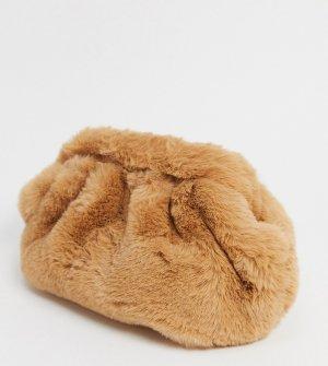 Эксклюзивный серо-коричневый клатч-подушка London-Бежевый My Accessories