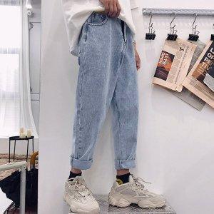 Мужской Зауженные джинсы легко-синий с карманом SHEIN. Цвет: синий