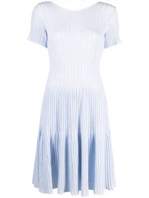 Платье в рубчик Antonino Valenti. Цвет: синий