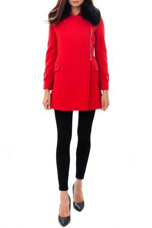 Пальто RADEKS. Цвет: красный