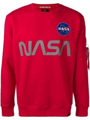 Nasa print sweatshirt Alpha Industries. Цвет: красный